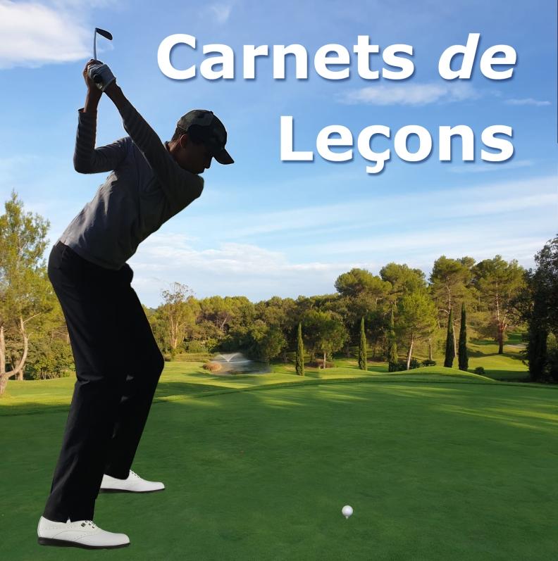 Carnets de plusieurs cours individuels de golf