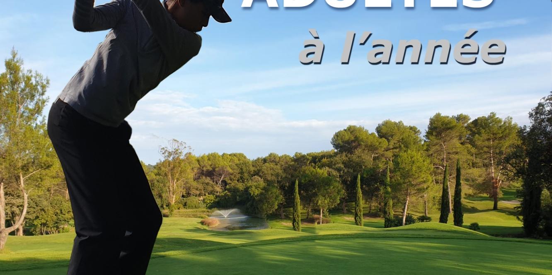 Cours collectifs sur une saison pour golfeur adulte