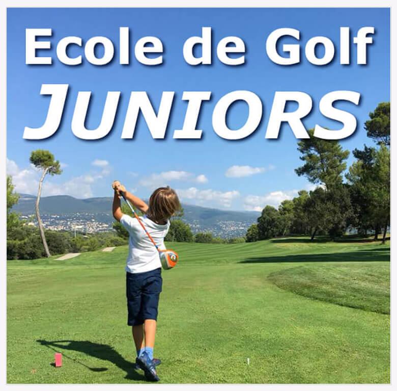 École pour enfants et jeunes golfeurs dans les Alpes Maritimes
